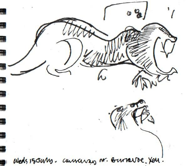 otter - shetland - ink pen - A5 sketchbook