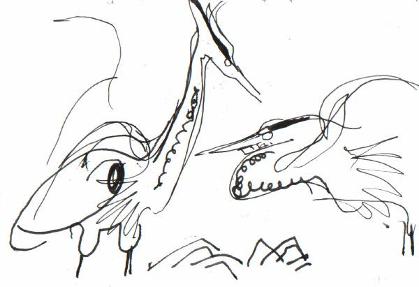 6613 -heronry - ink pen - A5 sketchbook