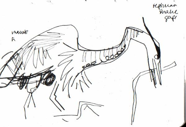 6614 -heronry - ink pen - A5 sketchbook