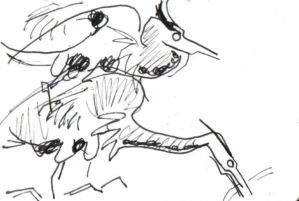6615 -heronry - ink pen - A5 sketchbook
