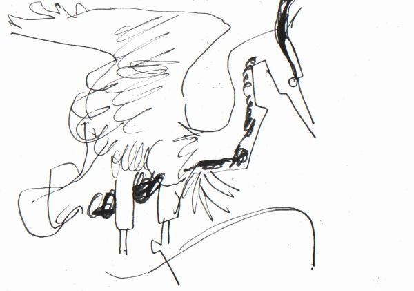 6616 -heronry - ink pen - A5 sketchbook