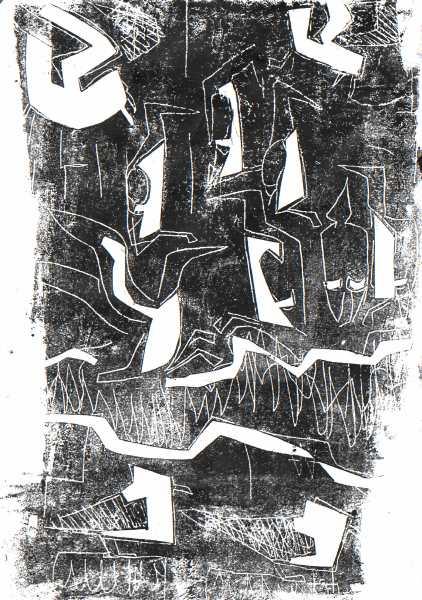 6671 -guillemot ledges - card print - 29.7 x 21 cms (A4)