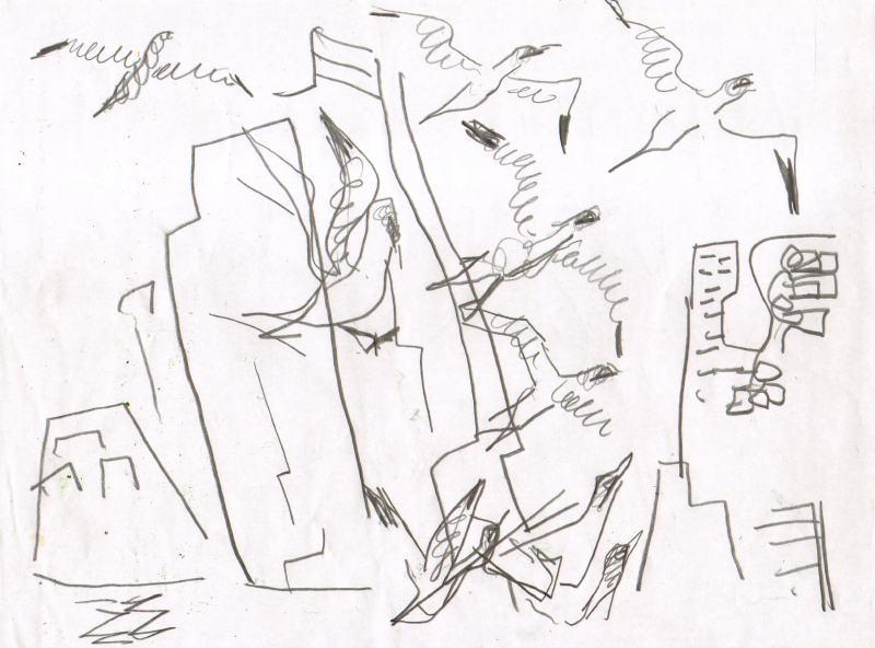 gannets - bass rock - graphite - 29.7 x 42 cms (A3)