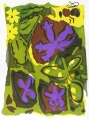 138‐4535 <b>bees & early spring flora</b>  screenprint 38 x 28 cms £POA‐Greg Poole