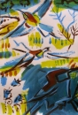 102‐5710<b>bee-eaters 2</b>acrylic59.4 x 42 cms (c.A2)£120‐GregPoole