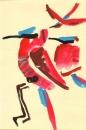 102‐6296<b>carmine bee-eater</b>kruger, south afrcagouache29.7 x 21 cms (A4)£60‐GregPoole