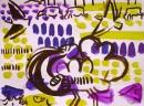 <b>great bustard  & calandra larks</b>    gouache & acrylic  A3 (29.7 x 42 cms)  £110&#8208;Greg&nbsp;Poole