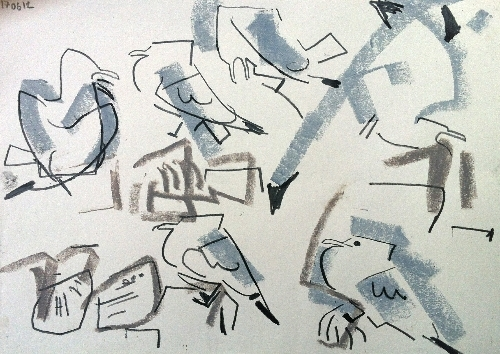 gulls - Kittiwakes, Dunbar