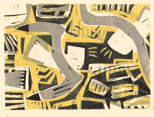 101&#8208;6257&emsp;<b>kittiwakes</b>&emsp;st abbs&emsp;woodcut&emsp;21 x 29.7cms (A4)&emsp;&#8208;Greg&nbsp;Poole