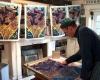 <b>Inking up rook woodcut, King's Cliffe studio c. 2002</b> &emsp;  &emsp;  &emsp;  &emsp;&#8208;Greg&nbsp;Poole