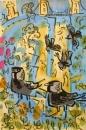 21‐4263<b>jackdaws & avon gorge flora</b>acrylic & gouache71 x 48 cmsSOLD&#8208;Greg&nbsp;Poole