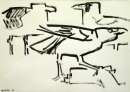 21‐4298 <b>gull & crows</b>  gouache A3 (29.7 x 42 cms) £80&#8208;Greg&nbsp;Poole