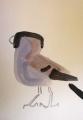 21‐4217<b>bullfinch</b>gouacheA5 (21 x 14.5 cms)£30‐GregPoole