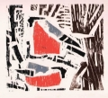 1‐4979 <b>bullfinch</b>  woodcut 26 x 24 cms ‐Greg Poole