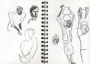 34‐6650 <b>around the brick makers</b> bhandavgarh, india graphite A5 sketchbook not for sale&#8208;Greg&nbsp;Poole