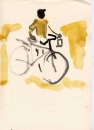 <b>indian cyclist</b>      gouache   A4 (29.7 x 21cms)   £50&#8208;Greg&nbsp;Poole