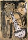 17&#8208;3704&emsp;<b>soprano saxophonist 1</b>&emsp;&emsp;&emsp;A2 (59.4 x 42 cms)&emsp;£150&#8208;Greg&nbsp;Poole