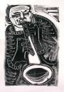 17&#8208;3707&emsp;<b>soprano saxophonist 13</b>&emsp;&emsp;&emsp;A2 (59.4 x 42 cms)&emsp;£150&#8208;Greg&nbsp;Poole