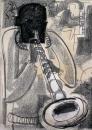17&#8208;3709&emsp;<b>soprano saxophonist 2</b>&emsp;&emsp;&emsp;A2 (59.4 x 42 cms)&emsp;£150&#8208;Greg&nbsp;Poole