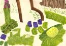 <b>spring woodland flora</b>    acrylic  36 x 48 cms  £180‐GregPoole