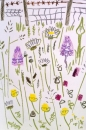 175‐6179 <b>common-spotted orchid, ox-eye daisy, goatsbeard</b> mendips wax crayon 56 x 38 cms £110&#8208;Greg&nbsp;Poole