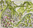 &lt;b&gt;avon gorge flora&lt;/b&gt; &amp;emsp;  &amp;emsp; gouache &amp; wax crayon &amp;emsp; 36 X 43 cms &amp;emsp; SOLD&#8208;Greg&nbsp;Poole