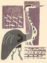 139‐7297<b>heron & reeds</b>woodcut50 x 38 cms£170‐GregPoole
