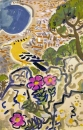 21‐4359 <b>hoopoe above nice</b>  gouache 50 x 33 cms £180‐Greg Poole