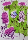 199‐6692 <b>common blue, marsh orchid & knapweed</b>  gouache 29.7 x 21 cms (A4) £80‐Greg Poole