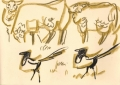 bl-0003  <b>sheep & magpies</b>       ‐GregPoole