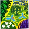 1‐4987 <b>extremadura - azure winged magpies</b>  card print 60 x 60 cms £POA‐Greg Poole