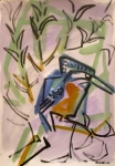 21‐4370 <b>kingfisher</b>  gouache A3 (42 x 29.7 cms) £75&#8208;Greg&nbsp;Poole