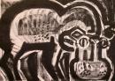 110‐5974<b>hippo 1</b>Queen Elizabeth Park, Uganda42 x 59.4 cms (c.A2)£120‐GregPoole