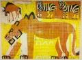 110‐5995<b>lion, zebra & wildebeest</b>Etosha, Namibia59.4 x 84 cms (c.A1)£350‐GregPoole