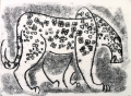 110‐6016 <b>leopard</b> kruger, south afrca monotype 24 x 36 cms £90‐Greg Poole