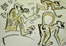 192‐6649<b>langur</b>bhandavgarh, indiagouache29.7 x 42 cms (A3)£70‐GregPoole