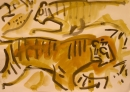 192‐6646 <b>tiger</b> bhandavgarh, india gouache 29.7 x 42 cms (A3) SOLD‐Greg Poole