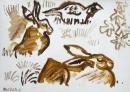 189‐895<b>hares & pheasant</b>39 × 56 cms&#8208;Greg&nbsp;Poole