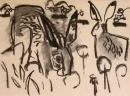 110‐4701<b>hares</b>A3 (29.7 x 42 cms)£50&#8208;Greg&nbsp;Poole