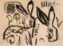 110‐4702<b>hares</b>A3 (29.7 x 42 cms)£50&#8208;Greg&nbsp;Poole