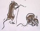 189‐3553<b>mice in kitchen</b>31 x 39 cms£80&#8208;Greg&nbsp;Poole