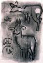 189‐4716<b>roe deer</b>A2 (59.4 x 42 cms)£120&#8208;Greg&nbsp;Poole