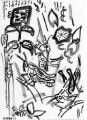 172‐4170<b>grasshoppers, self-heal & convolvulus 2</b>gouacheA4 (29.7 x 21cms)£50&#8208;Greg&nbsp;Poole