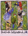 birdlife international t shirt ‐ screenprint ‐ 49 x 38 cms ‐ £55 ‐‐Greg Poole