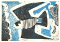 93‐5620 <b>peregrine, avon gorge</b>  monotype 24 x 36 cms SOLD‐Greg Poole
