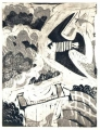 93‐5621<b>peregrine, avon gorge</b>monotype53 x 42 cms£180&#8208;Greg&nbsp;Poole