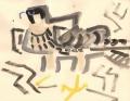 93‐4268<b>young peregrine</b>gouache28 x 38 cms‐GregPoole