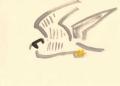 93‐4269<b>adult peregrine</b>gouache28 x 38 cms&#8208;Greg&nbsp;Poole