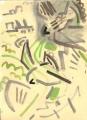 21‐4274<b>peregrines</b>gouache28 x 38 cms‐GregPoole