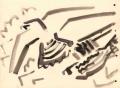 21‐4279<b>peregrines</b>gouache28 x 38 cms‐GregPoole